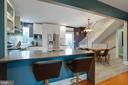 Kitchen with Breakfast bar - 9200 FLOWER AVE, SILVER SPRING