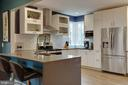 Kitchen with quartz counters - 9200 FLOWER AVE, SILVER SPRING