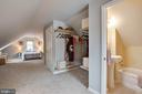 Master bath and closet - 9200 FLOWER AVE, SILVER SPRING