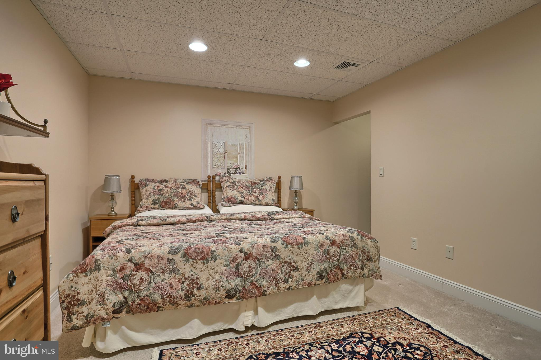 Extra Room in Lower Level used as a Bedroom