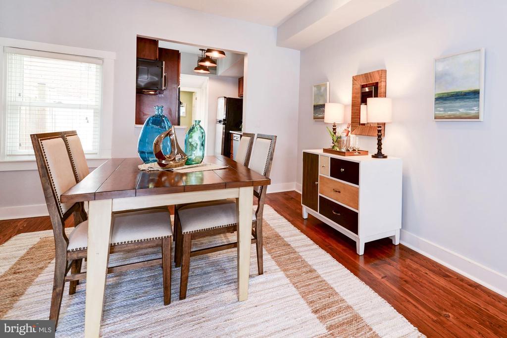 Dining Room - Hardwood Floors! - 523 N PATRICK ST, ALEXANDRIA