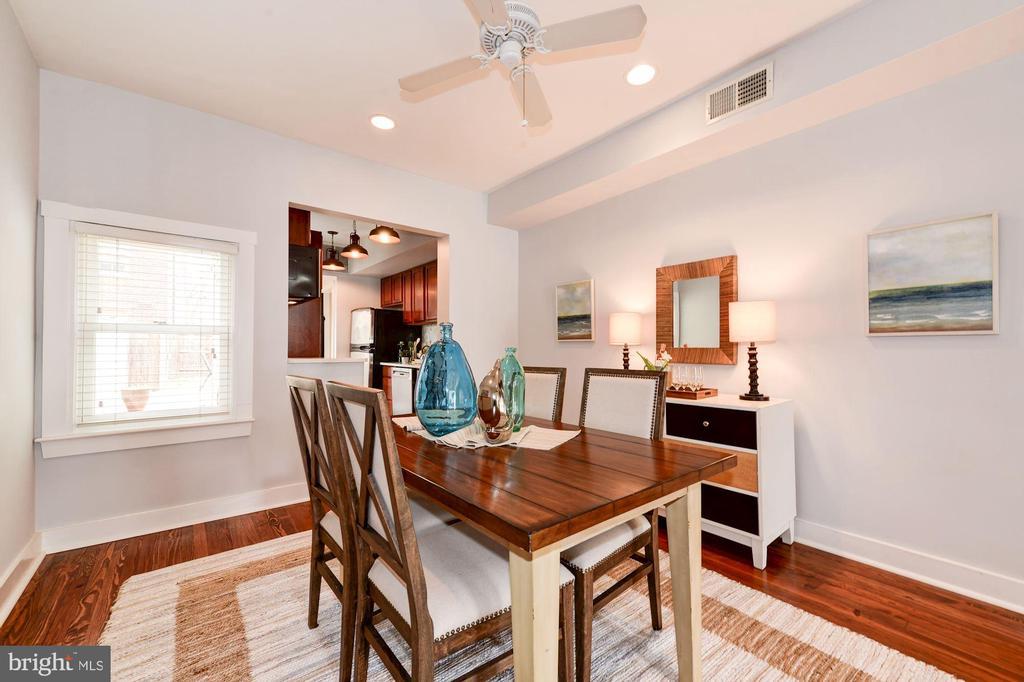 Dining Room Features Window, Blinds, & Bonus Sun! - 523 N PATRICK ST, ALEXANDRIA