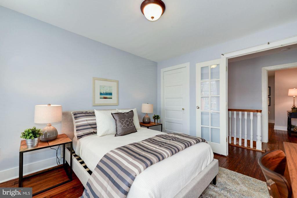Bedroom - Glass French Doors! - 523 N PATRICK ST, ALEXANDRIA