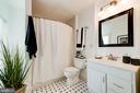 Full Bathroom with On-Trend White & Black Tile! - 523 N PATRICK ST, ALEXANDRIA