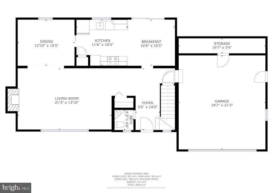 Main Level - Big Garage - 9329 GLENBROOK RD, FAIRFAX