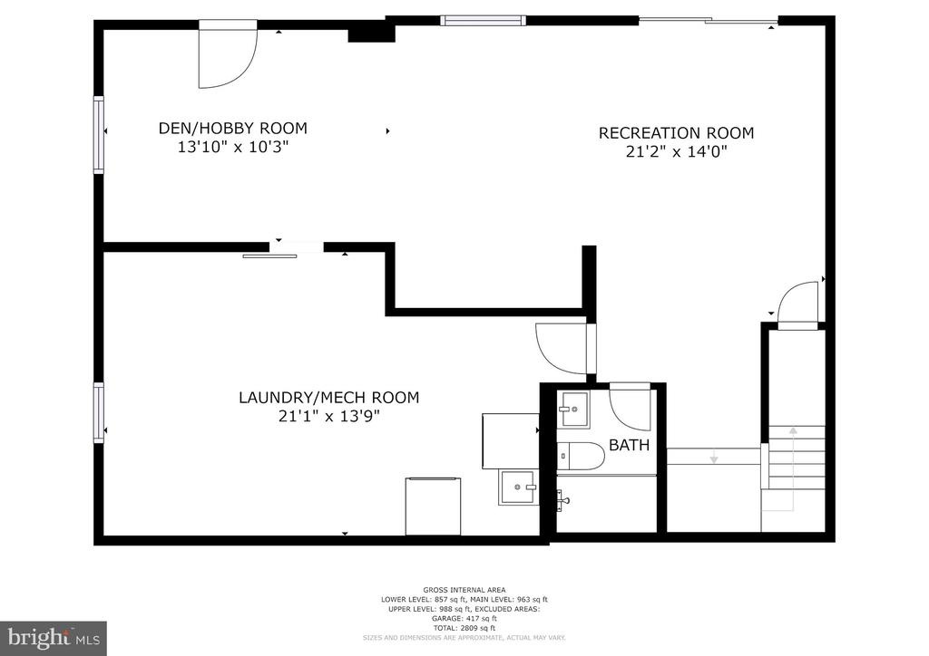 Basement - lots of storage. Den could be 5th BR. - 9329 GLENBROOK RD, FAIRFAX