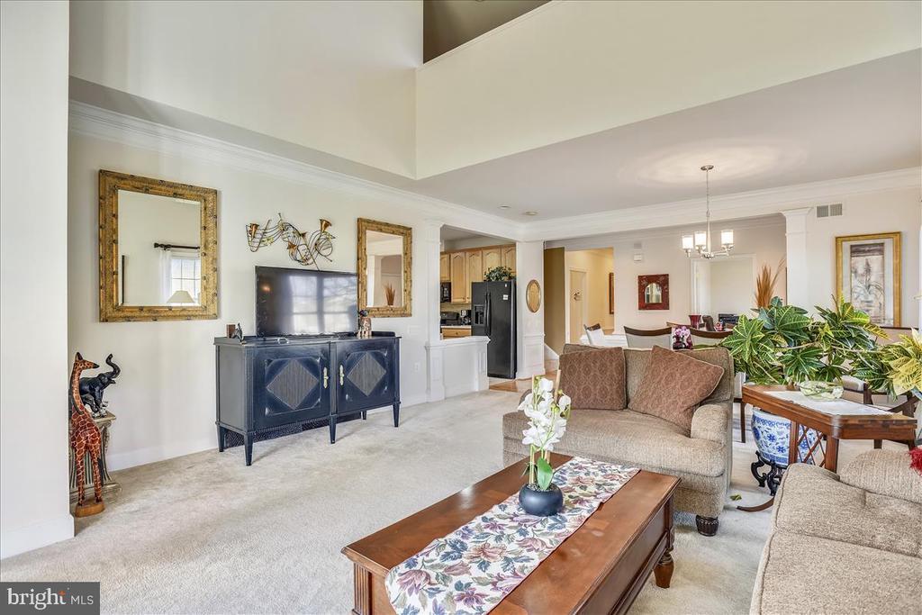 Spacious living room - 44482 MALTESE FALCON SQ, ASHBURN
