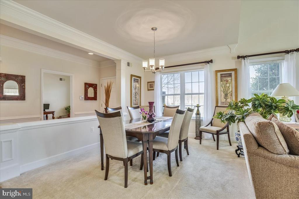 Formal Dining with molding & new chandelier - 44482 MALTESE FALCON SQ, ASHBURN