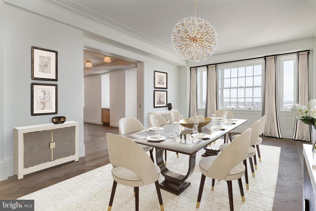 Spacious Dining Room - 2660 CONNECTICUT AVE NW #7B, WASHINGTON