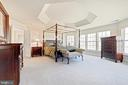 Master Suite has wall of windows and tray ceiling - 1224 ADMIRAL ZUMWALT LN, HERNDON