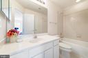 EnSuite Bath in Bedroom2 - 1224 ADMIRAL ZUMWALT LN, HERNDON