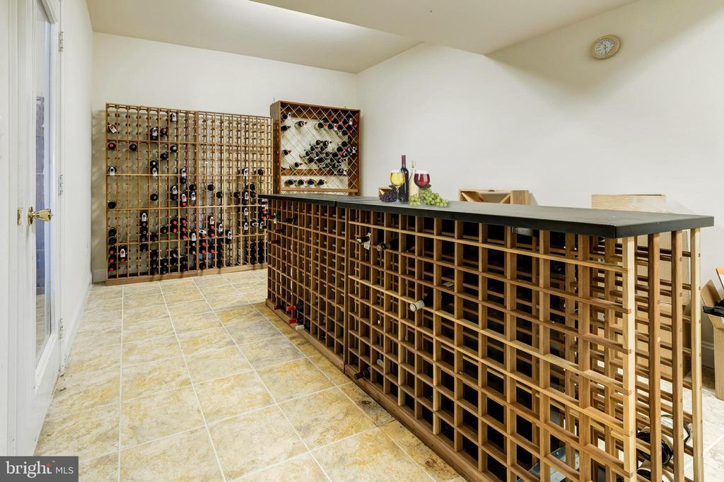 Custom Wine Room in Basement - 1224 ADMIRAL ZUMWALT LN, HERNDON