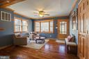 Main living area with large bay window - 5755 PILGRIMS REST RD, BROAD RUN