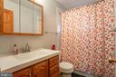 Beautifully updated main-level full bathroom - 5755 PILGRIMS REST RD, BROAD RUN