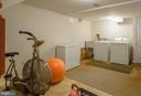 Laundry area, lots of room for fitness or storage - 5755 PILGRIMS REST RD, BROAD RUN