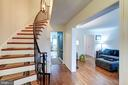 Foyer with beautiful curved staircase - 8441 FORRESTER BLVD, SPRINGFIELD