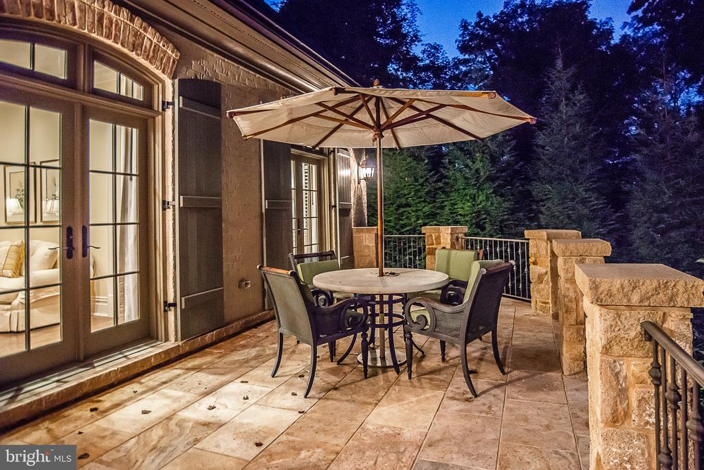 Night Shot of Terrace - 6126 FRANKLIN PARK RD, MCLEAN