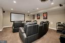 Theatre-Style Media Room - 42669 SILVERTHORNE CT, BROADLANDS