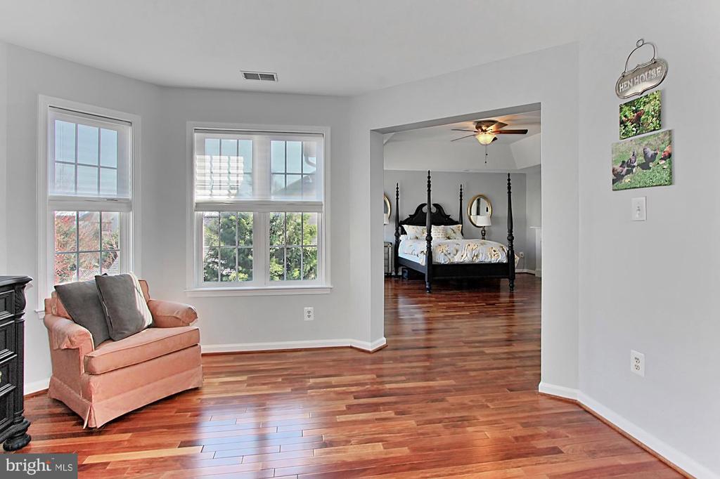 Sitting area in Master Bedroom - 42603 GOOD HOPE LN, BRAMBLETON