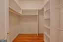 Walk in closets - 13610 KALMBACKS MILL DR, FREDERICKSBURG