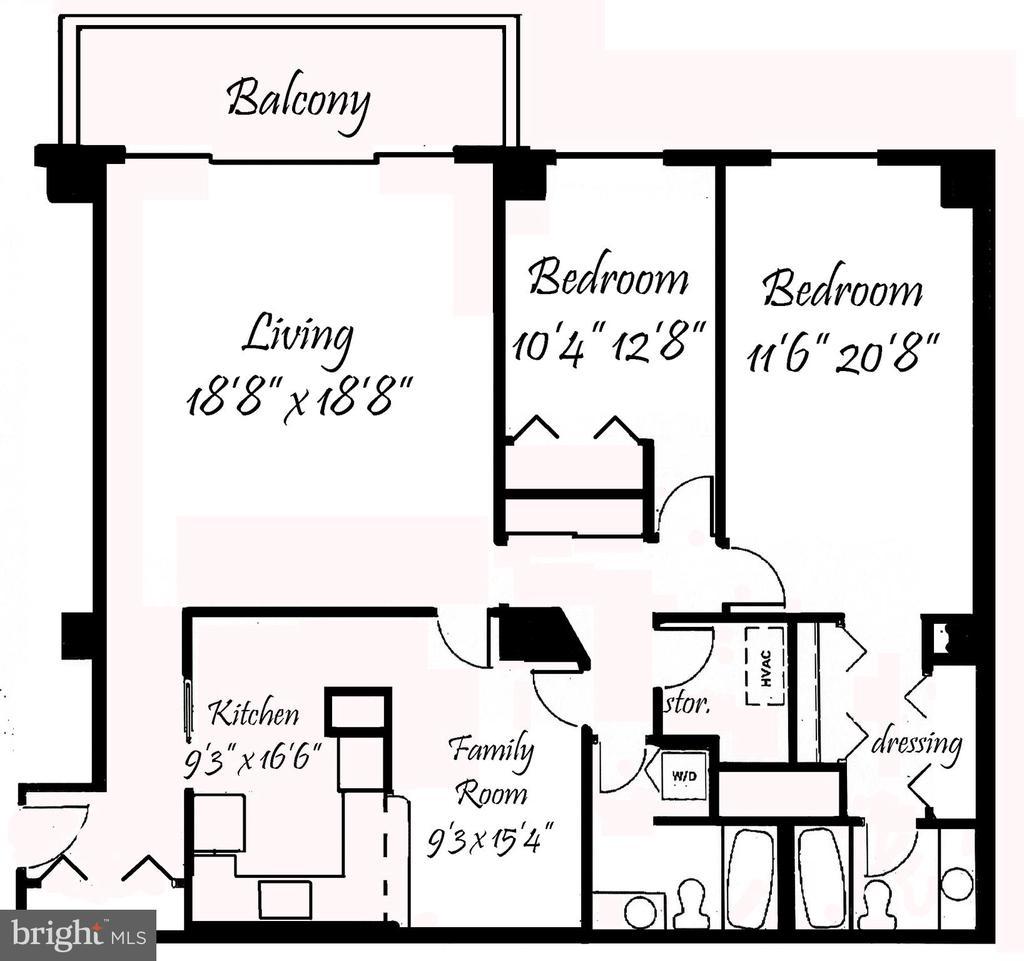 Floor Plan - 3800 FAIRFAX DR #1014, ARLINGTON