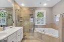 Luxurious ensuit bath offers soaking tub - 5597 CEDAR BREAK DR, CENTREVILLE