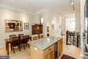 Dining room is adjacent to the kitchen - 1641 13TH ST NW #A, WASHINGTON