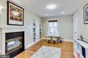 Double Sided Fireplace in Office/Play Room - 2035 N TAYLOR ST, ARLINGTON