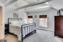 Master Bedroom's Vaulted Ceilings & Exposed Beams - 2035 N TAYLOR ST, ARLINGTON