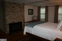 FURNISHED MASTER BEDROOM WITH GAS FIREPLACE - 4312 SOUTHWOOD DR, ALEXANDRIA