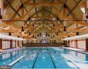 Indoor pool at the nearby Potomac Club - 43769 FARMSTEAD DR, LEESBURG