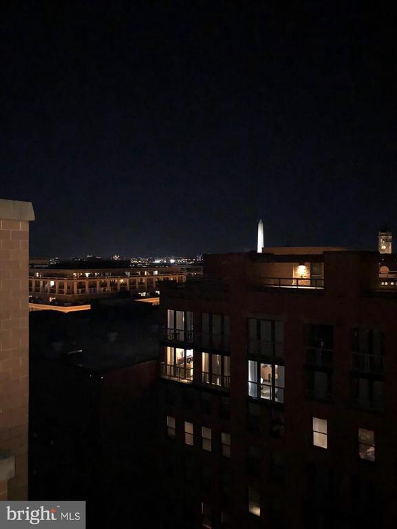 Nighttime View from Private Rooftop Deck - 616 E ST NW #1155, WASHINGTON