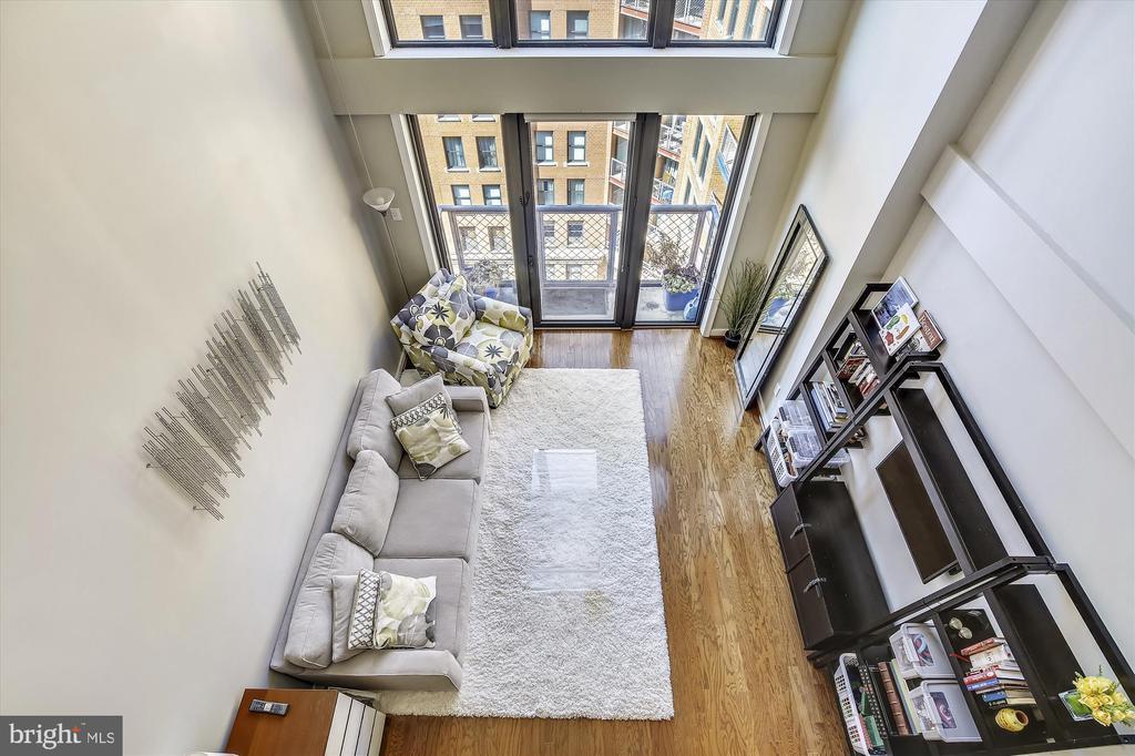 Two Story Living Room - 616 E ST NW #1155, WASHINGTON
