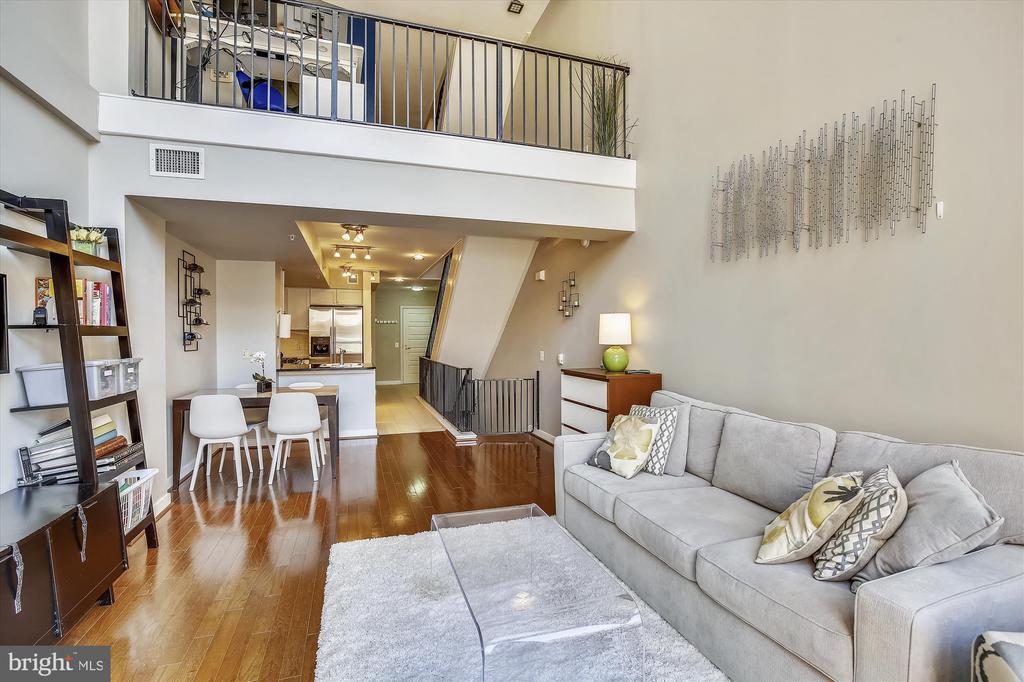 Loft Overlooking Living Room - 616 E ST NW #1155, WASHINGTON