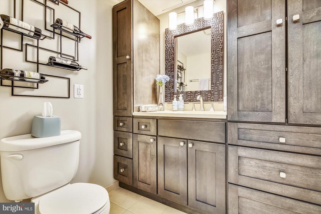 Updated Half Bath with Custom Storage - 616 E ST NW #1155, WASHINGTON