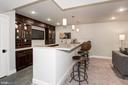 Wet Bar with wine cooler, dishwasher, refrigerator - 2779 N WAKEFIELD ST, ARLINGTON