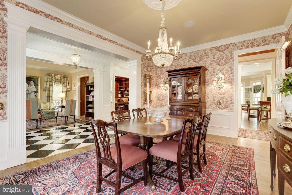 The dining room is adjacent to the butler's pantry - 224 W WINDSOR AVE, ALEXANDRIA