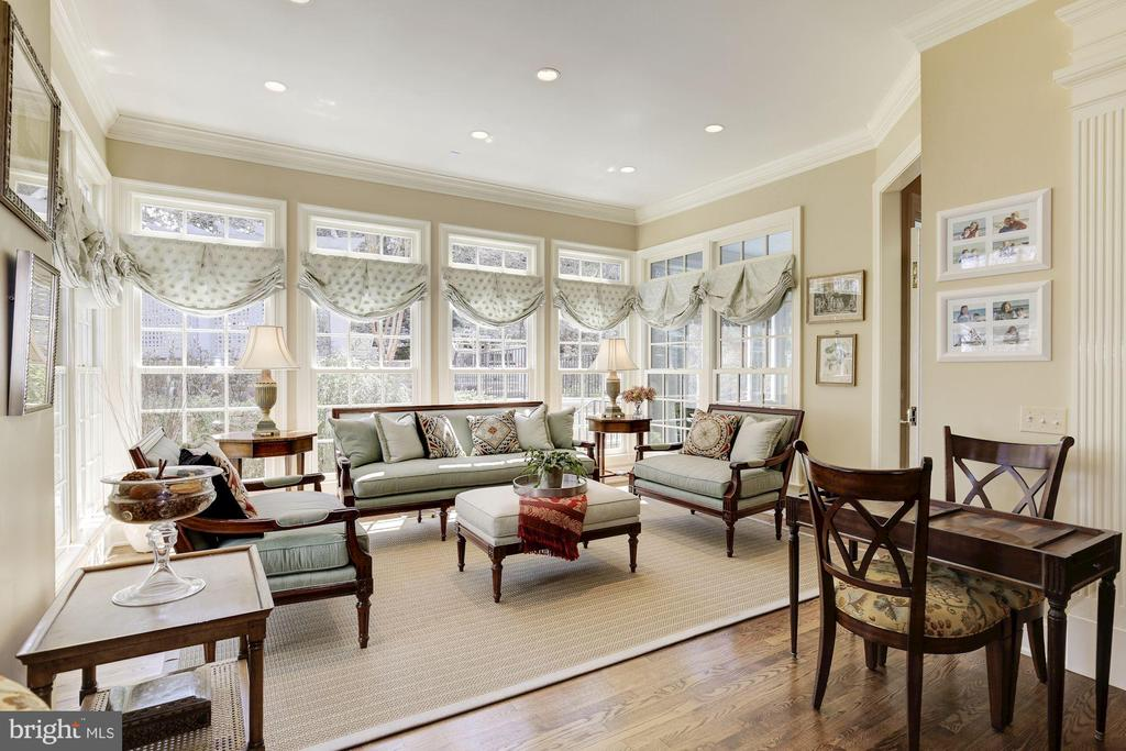 Sun room is bright and cheery! - 224 W WINDSOR AVE, ALEXANDRIA