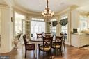 Breakfast room w/ French doors to screened porch - 224 W WINDSOR AVE, ALEXANDRIA