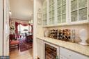 Butler's pantry w/ Subzero wine fridge - 224 W WINDSOR AVE, ALEXANDRIA