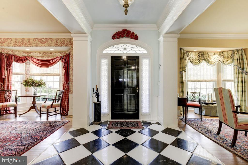Italian marble foyer opens to living/dining rooms - 224 W WINDSOR AVE, ALEXANDRIA