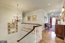Gracious upstairs foyer w/ Palladian window - 224 W WINDSOR AVE, ALEXANDRIA