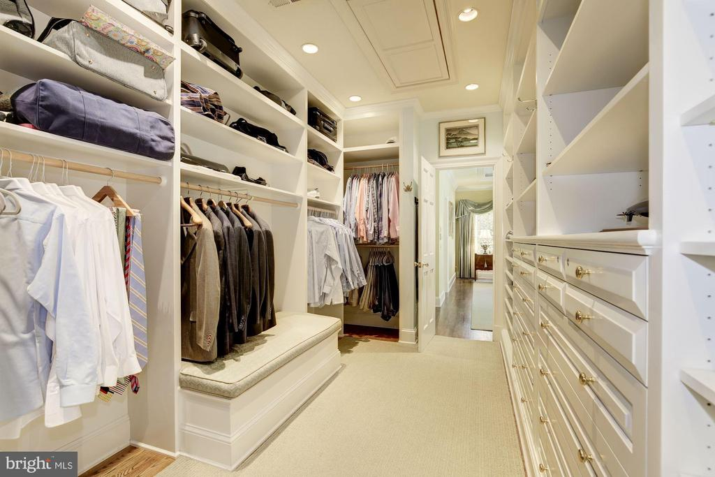 His closet has lots of built-ins and shelves - 224 W WINDSOR AVE, ALEXANDRIA