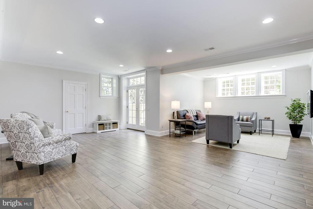 Lower level has full size windows & French doors - 224 W WINDSOR AVE, ALEXANDRIA