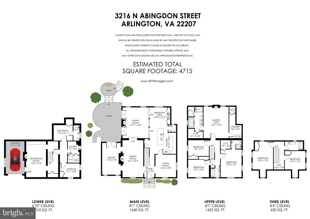 Almost 5000 Sq Ft ~4 Levels & Outdoor Living Space - 3216 N ABINGDON ST, ARLINGTON