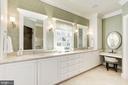 Sunny marble master bath w/ dressing table - 224 W WINDSOR AVE, ALEXANDRIA