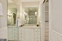 Bath w/ custom vanity adjacent to walk-in closet - 224 W WINDSOR AVE, ALEXANDRIA
