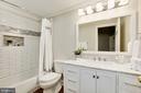 LL en suite bath w/ marble & subway tile - 224 W WINDSOR AVE, ALEXANDRIA