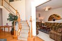 Foyer/ Living Room View - 2224 GREAT FALLS ST, FALLS CHURCH