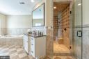 Master bathroom with dual shower entrance - 9110 DARA LN, GREAT FALLS
